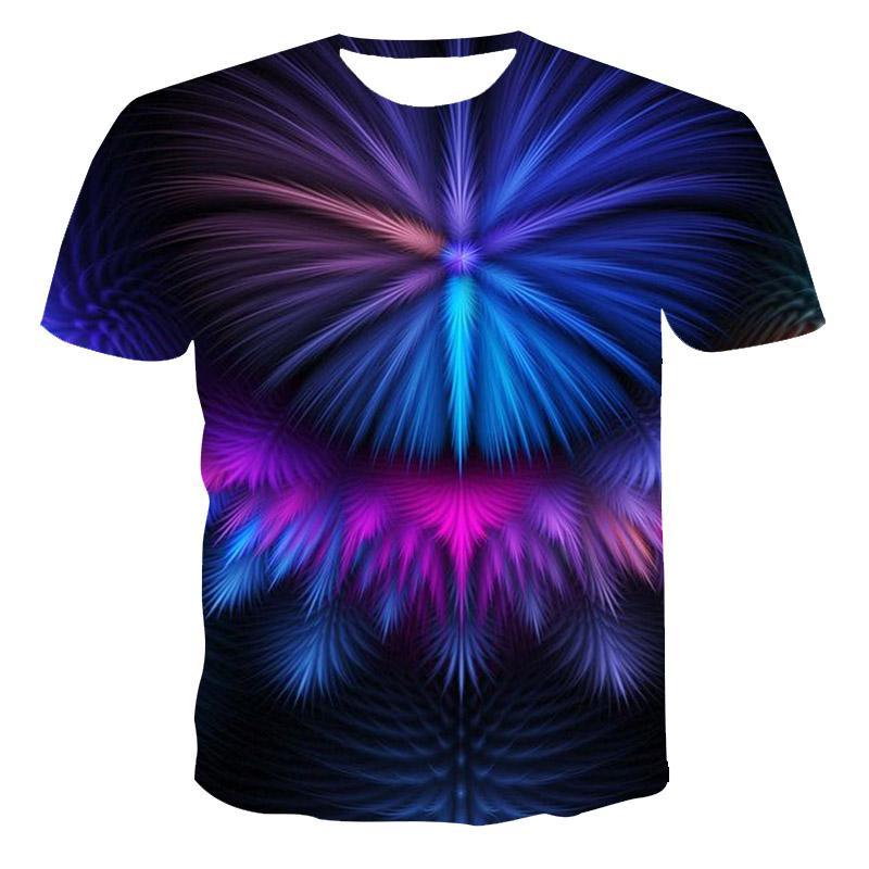 Novedad de verano en Europa y América, camiseta de manga corta con cuello redondo 3D con estampado digital para hombres, camiseta con personalidad