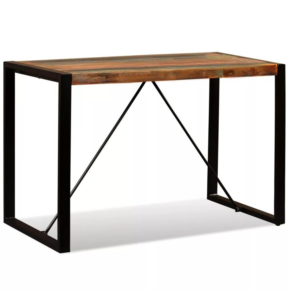 VidaXL mesa de comedor sólida de madera recuperada 120cm 243998
