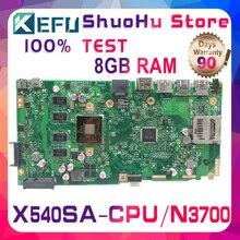KEFU F540S dla ASUS VivoBook X540SA X540S CPU N3700 pamięci 8GB laptopa płyty głównej testowane 100% pracy oryginalna płyta główna