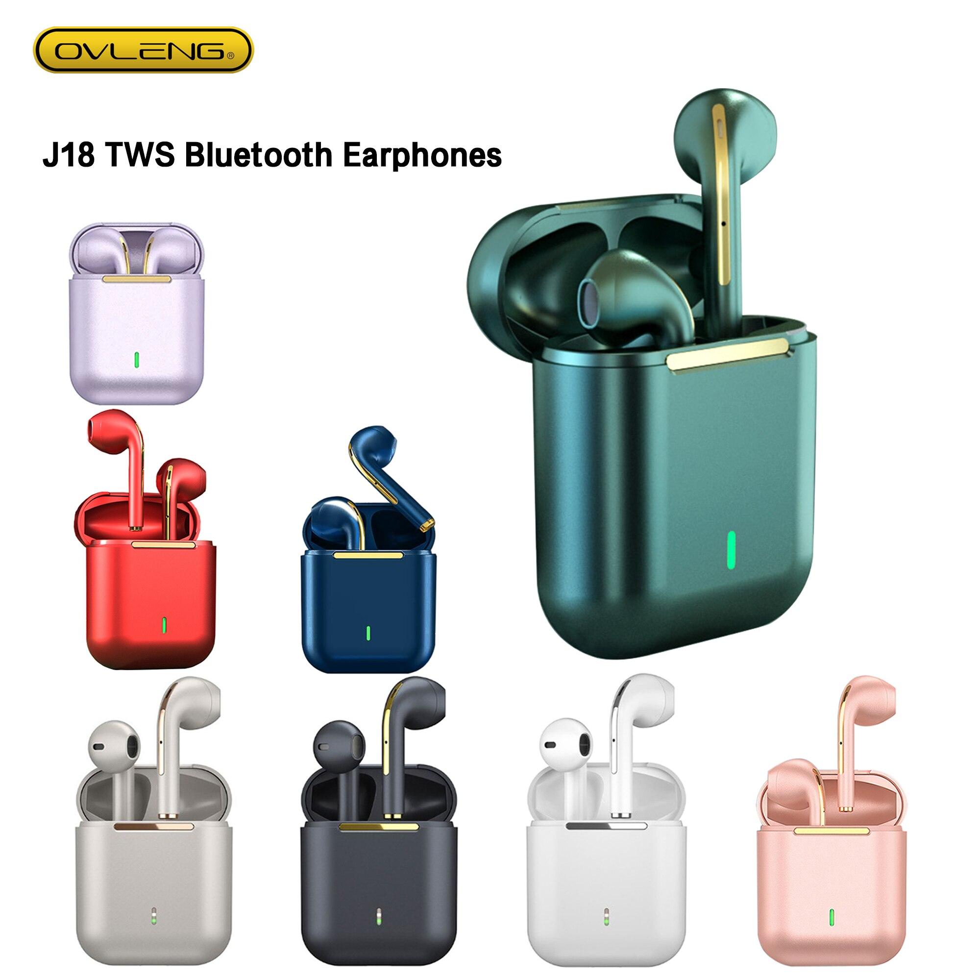 BIUTIFU-سماعة رأس لاسلكية تعمل بالبلوتوث 2021 ، J18 TWS ، سماعة موسيقى بدون استخدام اليدين ، سماعة تحكم للهواتف الذكية ، 5.0