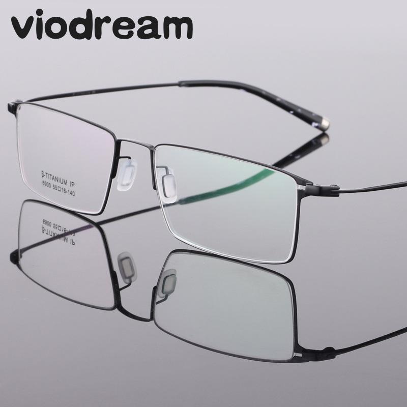 إطار نظارة من التيتانيوم الخالص خفيف الوزن للغاية ، نظارات احترافية لقصر النظر ، وصفة طبية