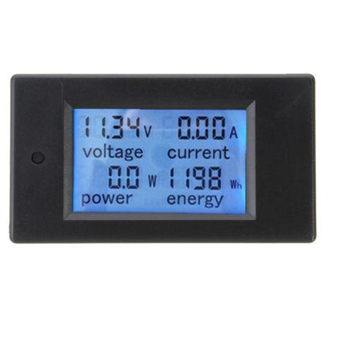 Dc 20a lcd combo medidor de tensão corrente kwh watt bateria pannel monitor energia do carro