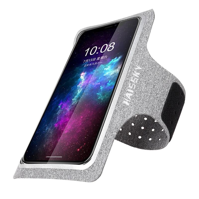 Haissky, bolsas para correr, brazaletes deportivos, funda para teléfono móvil, soporte para el brazo, bolsa para iPhone 11 Pro Max Samsung S20 Ultra Xiaomi