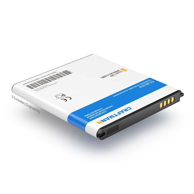 Batería Craftmann (Li-ion, 2600mAh) para Samsung GALAXY GRAND PRIME SM-G530H/G532F/J2/J3/J320F/J5/J500F (EB-BG530CBE/EB-BG530BBC)