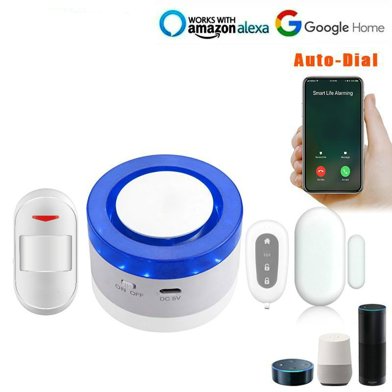 Tuya граффити сигнализация умный жизнь приложение управление WiFi сигнализация звук и светильник, умный дом Охранная сигнализация