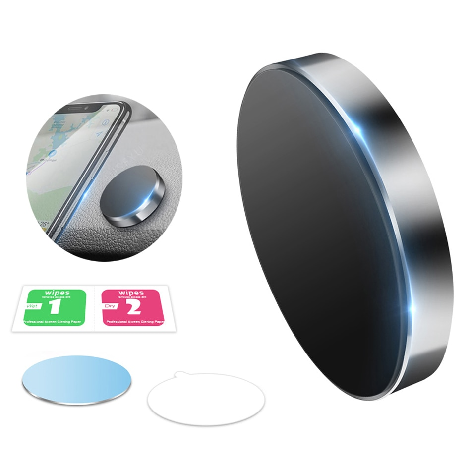 Soporte magnético Universal para teléfono de coche, soporte para teléfono móvil, soporte de montaje para automóvil para iPhone, soporte de pared de escritorio, adhesivo plano con imán de Metal