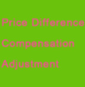 Price difference Compensation adjustment Extra Fee contact seller