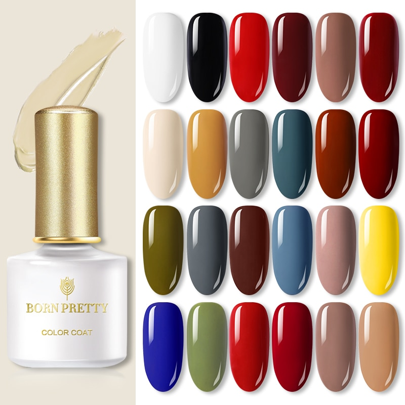 BORN PRETTY  Nail Color Gel Varnish  Gel Nail Polish Colorful Soak Off UV LED Gel Polish Base Top Coat 6ml for DIY Manicuri