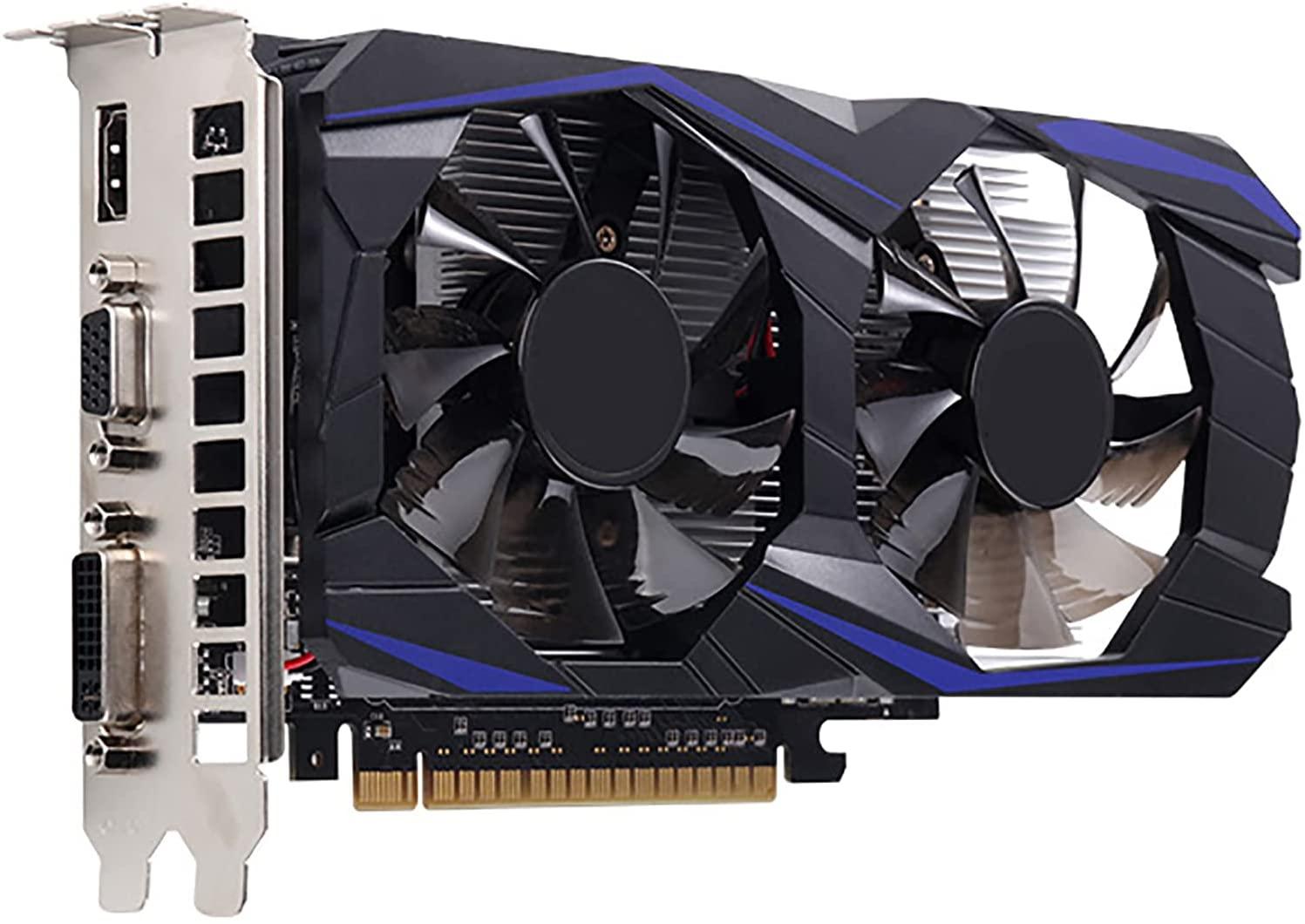 بطاقة جرافيكس للتعدين GTX1050Ti مع مروحة ذكية للتحكم في درجة الحرارة GDDR5 HD 128 بت لألعاب حاسوب شخصي مكتبي