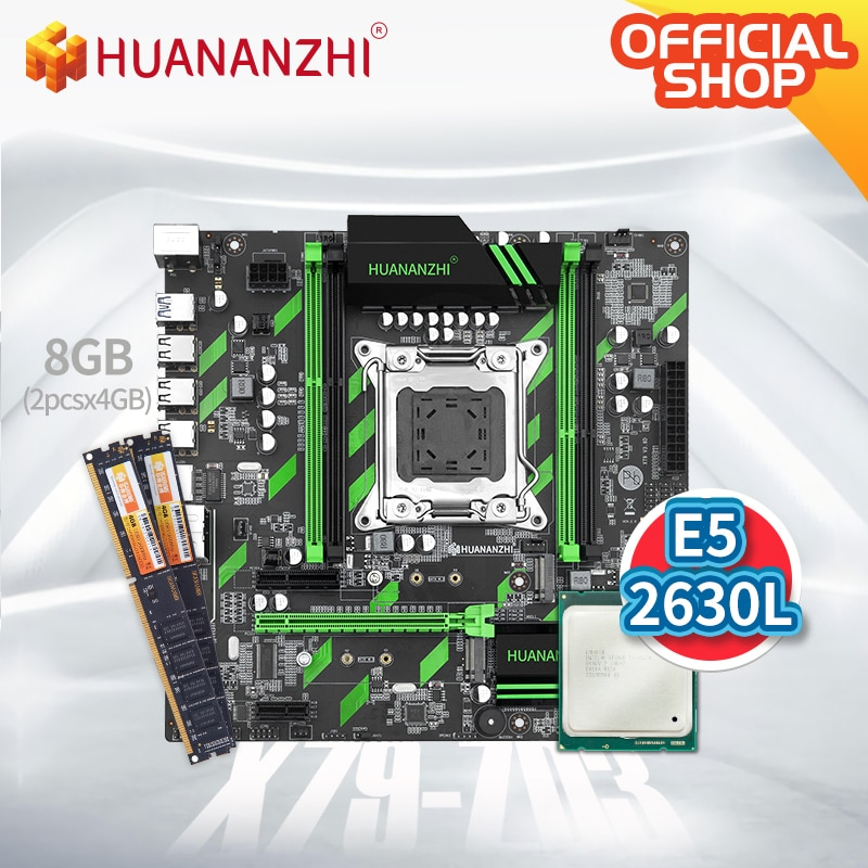 HUANANZHI X79 ZD3 X79 motherboardwith إنتل زيون E5 2630L مع 2*4G DDR3 NON-ECC الذاكرة كومبو كيت SATA USB 3.0 NVME NGFF M.2