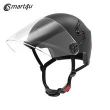 Smart4u E10-Casco inteligente para motocicleta, con Bluetooth, casco automático para bicicleta y coche