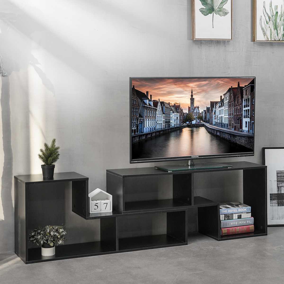 الحديثة غير النظامية حامل تلفاز تركيبة مجانية التلفزيون خزانة التخزين المنظم المفروشات المنزلية وحدة تليفزيون رف الكتب أثاث غرفة المعيشة