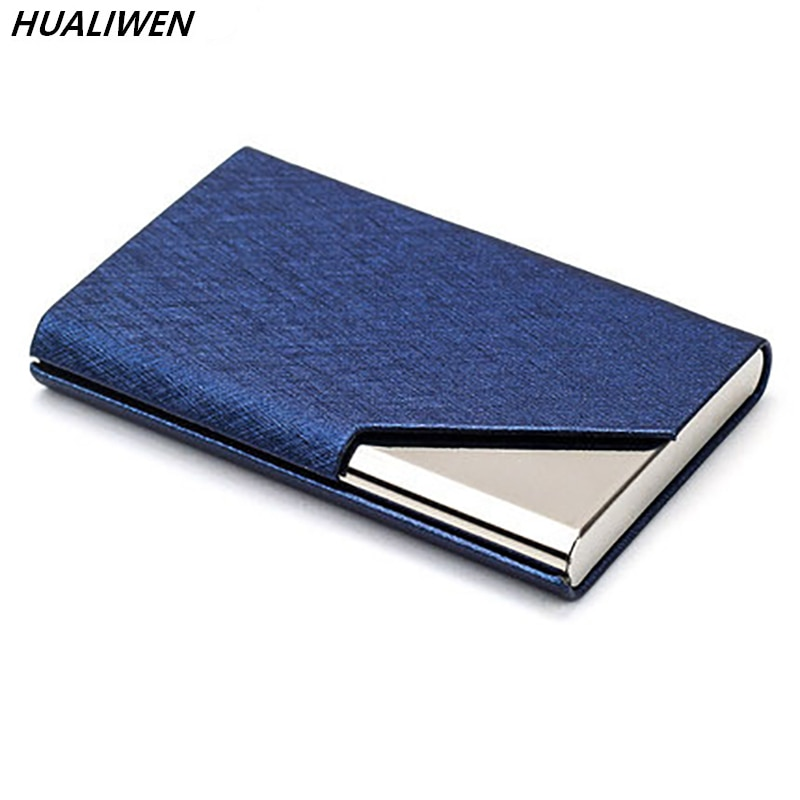 Business card holder large capacity custom lettering metal business card case portable storage box can be customized logo