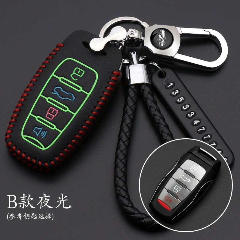 leather car key case cover keychain for Great Wall Haval H6 2015 C50 H7 H4 H9 F5 F7 H2S H6 Coupe H1 H2  key cover cap недорого