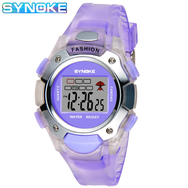 SYNOKE Brand Kids Digital Watches LED Alarm Fashion Casual Waterproof Girls Boys Outdoor Sports Watch For Children Clock Gift kids watches children digital led fashion sport watch cute boys girls wrist watch waterproof gift watch alarm men clock ohsen