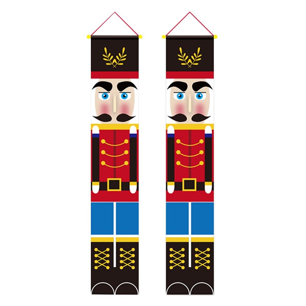 1 пара, новогодний флаг для входной двери грецкого ореха