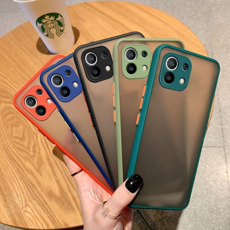 Cover For Xiaomi Mi 11 Lite Case Candy Color Camera Protection Skin Touch Soft Phone Case For Xiaomi Mi 11 Lite Ultra Mi11i Pro  - buy with discount