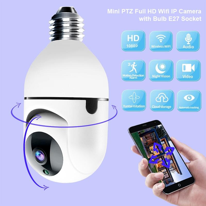 1080P HD لمبة كاميرا واي فاي مصغر زائد E27 لمبة المقبس أحدث نموذج مراقبة الأمن لمراقبة المنزل الذكي داخلي Ycc365