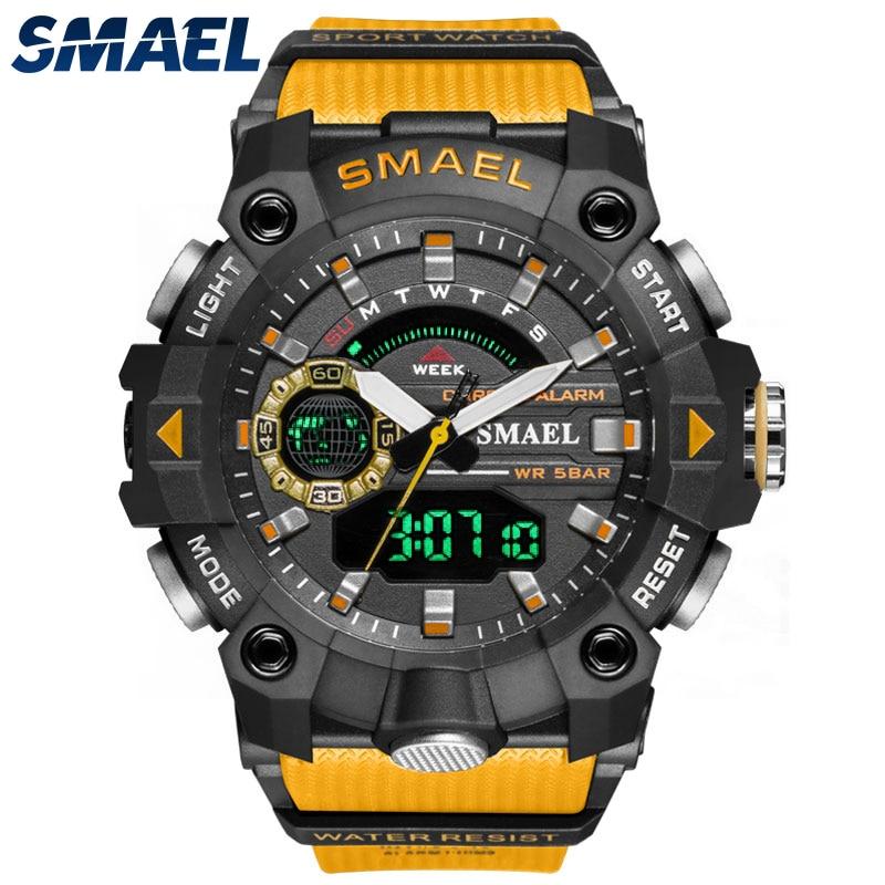 Часы мужские спортивные цифровые, водонепроницаемые кварцевые с Т-секундомером, с отображением времени 12/24 часа, с будильником, 8040