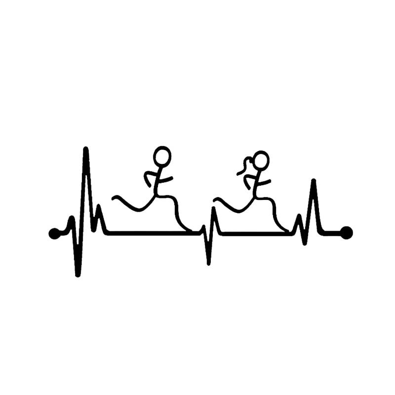 Персонализированные автомобильные наклейки с сердцебиением для мальчиков и девочек, автомобильные декоративные наклейки, подходят для ра...