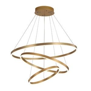 Creative Light Fixture 3-circle Round Dining Room Suspension Lamp Bedroom Clothing Store Cafe  Art Bra Golden/Black  Pendant Lig