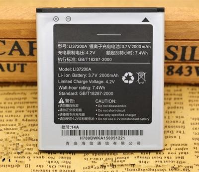 2000mAh LI37200A batería para Hisense HS-X8C X8U X8T U9 T9 E620M baterías de teléfonos móviles con el titular del teléfono para regalo
