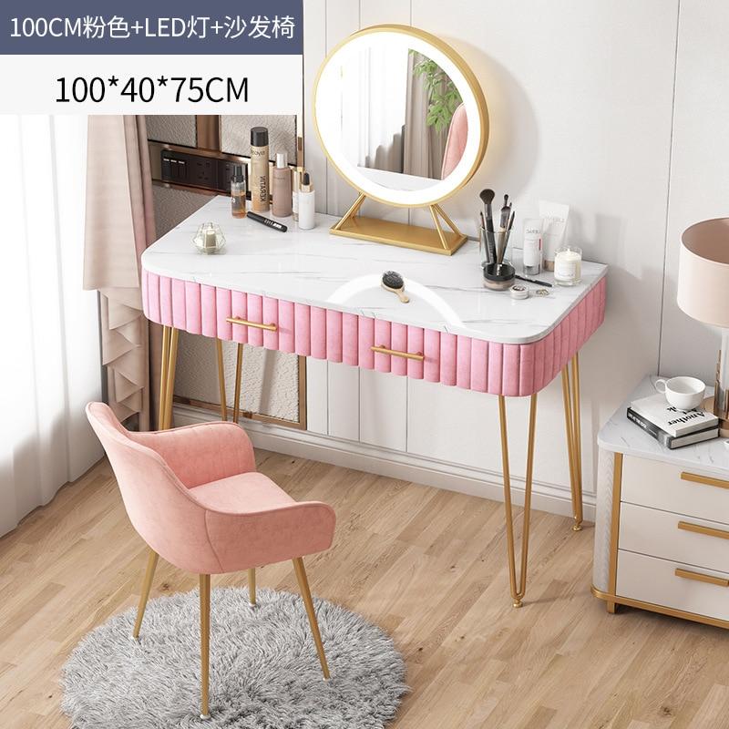 Туалетный столик, роскошный современный туалетный столик для маленькой квартиры, одиночный туалетный столик в стиле ins с туалетным зеркало...