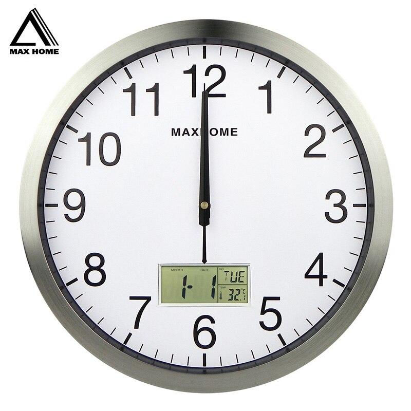 Настенные часы MAX HOME, винтажные антикварные часы для кухни и офиса с прямой поставкой