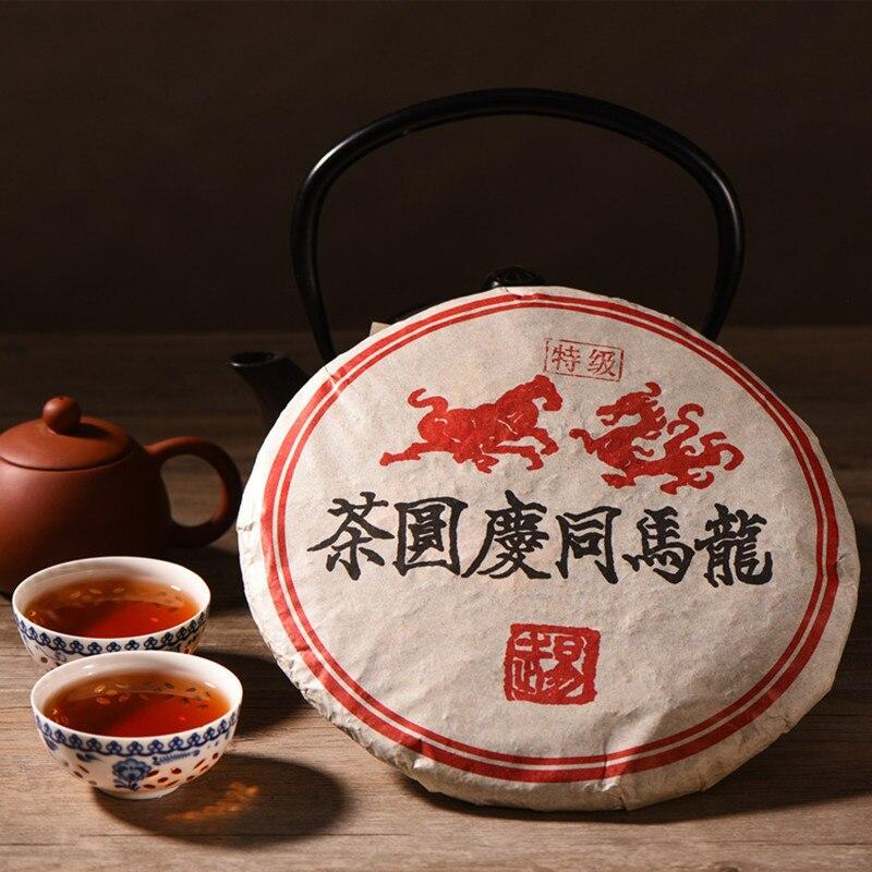 1999 год, Yr Tong Qing Hao, китайский Юньнань, Менг, Хай Шу, созревший ПУ-эр 357 г