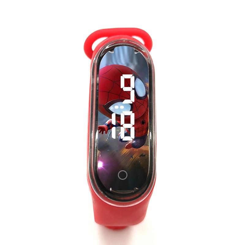 Disney Spider-Man Children's Watch Iron Man Luminous Bracelet Watch Touch Student Children's Sports LED Watch Birthday Gifts