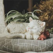 Pot de fleurs béton chat moule silicone succulent ciment pot de fleurs moule avec noeud Kitty moule résine décorative