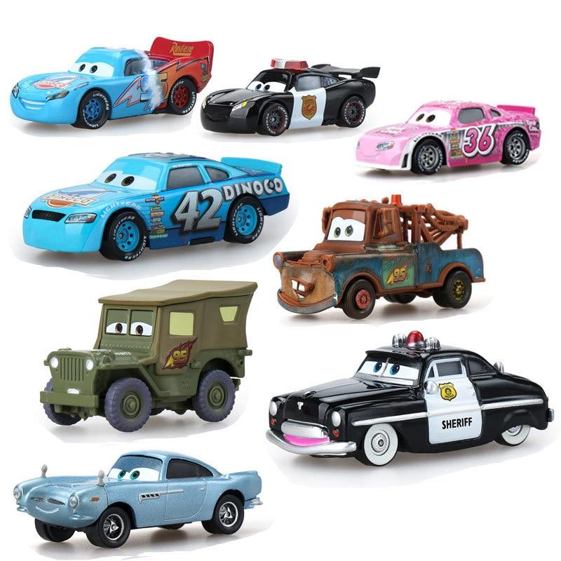 Disney Pixar Тачки 2 3 Молния Маккуин мэтер шторм Рамирес 1:55 литая машина из металлического сплава для мальчиков детские игрушки подарок Oyuncak воен...
