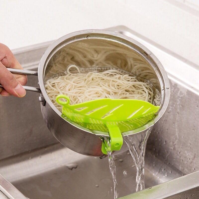 Accesorios de cocina, colador para lavar arroz en forma de hoja, guisantes, Gadgets de cocina, Herramientas de limpieza, utensilios de cocina, artículos