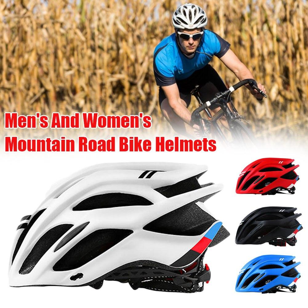 Capacete de Bicicleta Equipamento de Equitação Masculino Capacete Multi-color Equitação Integrado-molde Leve Respirável Esportes