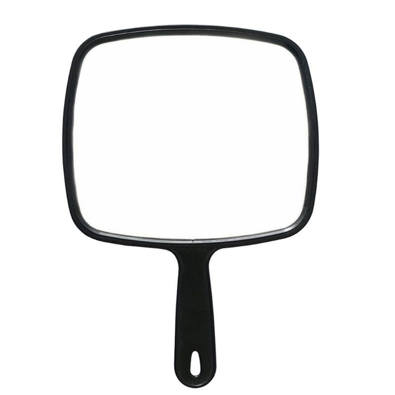 Barberos de peluquería portátiles con envío directo, espejo de mano con Mango antideslizante para maquillaje, herramienta de Vista trasera de coche para Baño