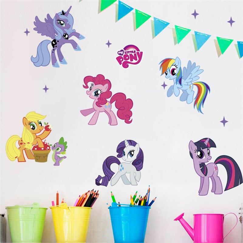 Dessin animé vif mon petit poney stickers muraux Art Mural étanche décoration murale stickers muraux pour enfants chambres décoration de la maison