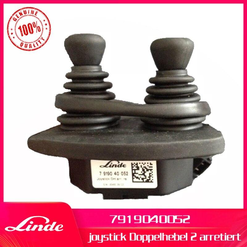 Wózek widłowy Linde oryginalna część 7919040052 joystick Doppelhebel 2 arretiert używane na 335 336 ciężarówka elektryczna E20 E30 i 396 diesel