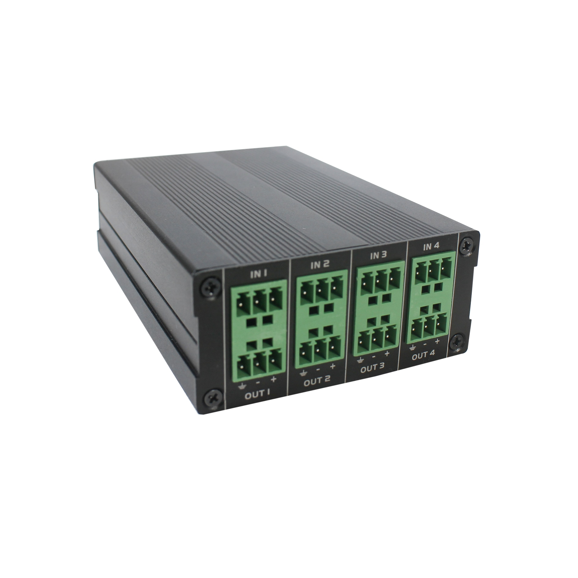 جهاز إرسال سمعي صغير برو 4 في 4 خارج شبكة IP Dante/محول مع 2 ميكروفون متوازن/AUX ، دعم 12VDC أو PoE امدادات الطاقة