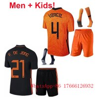 2020 2021 Children Holland Netherlands Kids + Men Jerseys  DE JONG Trainingspak Voetbal Tenues Chandal VIRGIL Ligt Kits