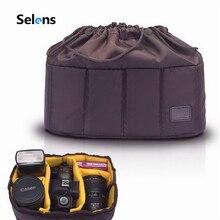 Selens Flexible caméra insérer Partition sac rembourré étui pour Canon Nikon Sony DSLR objectif appareil photo reflex