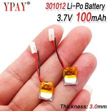 100mAh 3.7V 301012 리튬 폴리머 lipo 충전식 배터리 GPS MP3 MP4 패드 DVD DIY 블루투스 헤드폰 스피커 전화