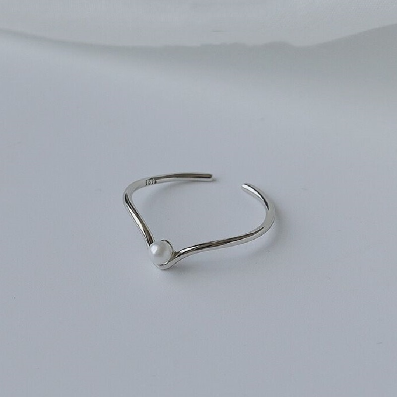Anello di piume retrò in argento Sterling 925 VENTFILLE per donna regalo di gioielli da festa in argento tailandese di personalità semplice 2021 nuovo