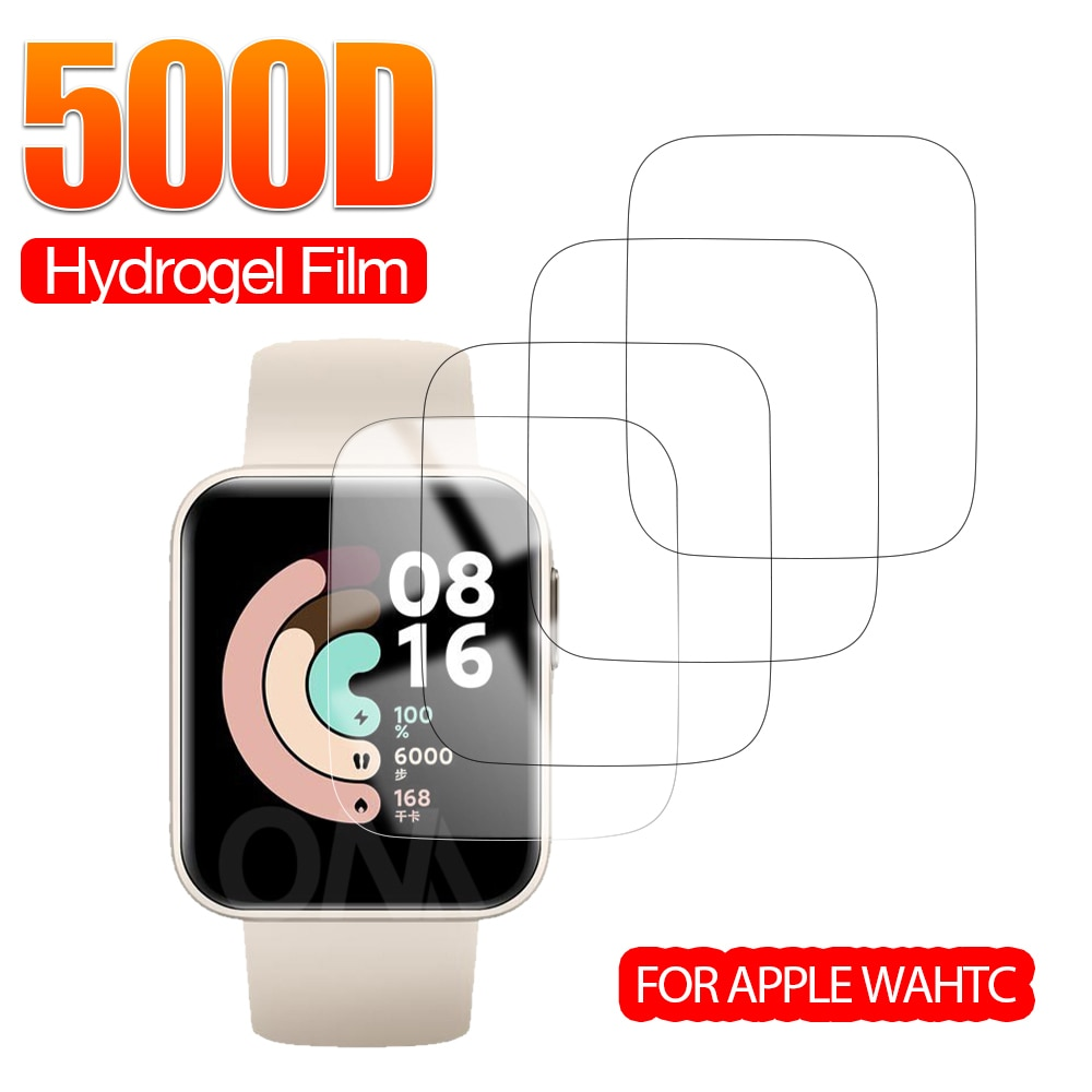 Full Coverage Screen Protector for Xiaomi Redmi Watch & Mi Smart Watch Lite Soft Hydrogel Protective Film Accessories (Not Glass