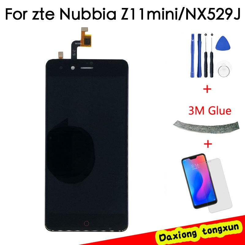 5,0 nuevo para ZTE Nubia Z11 Mini NX529J pantalla LCD completa + MONTAJE DE digitalizador con pantalla táctil negro/blanco 100% probado + seguimiento