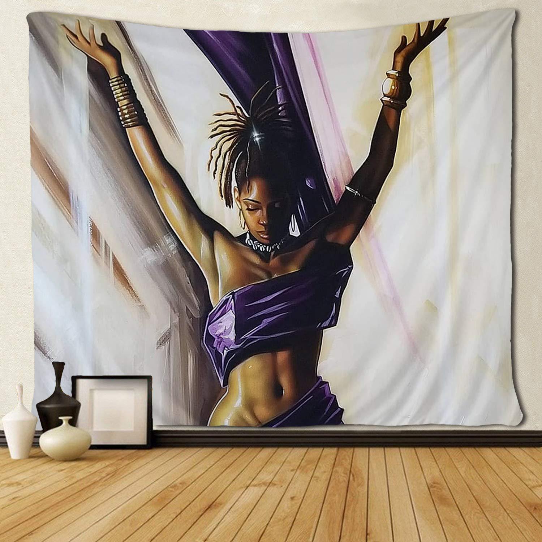 Tapeçarias para o Quarto Sala de Estar Afro Modelo Preto Arte Africano-americana Mulher Dormitório