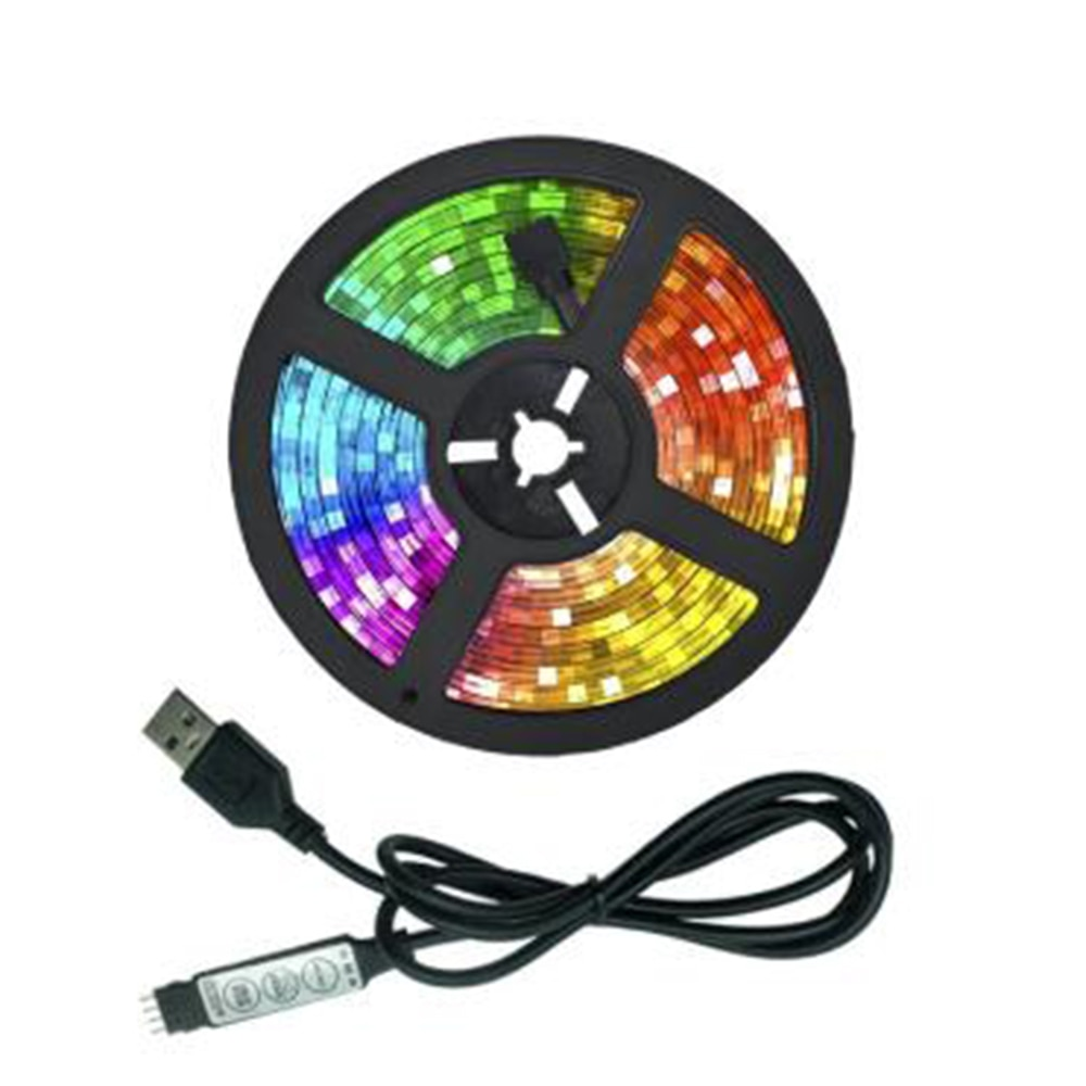 LED Lights TV Background Lighting Tape Flexible Lamp USB Infrared Control Decoration TV Diode Accessories Equipment Bluetooth