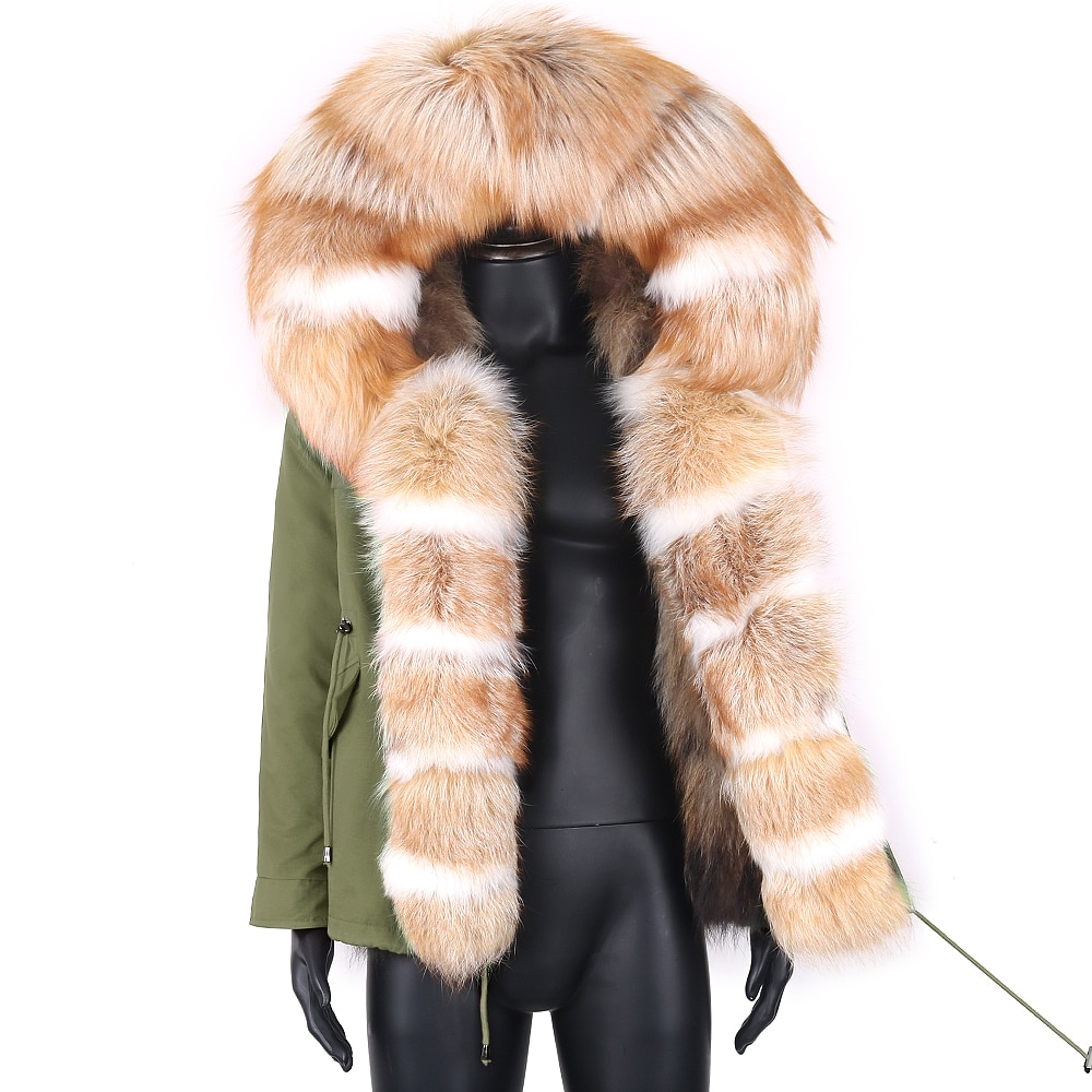 الشتاء سترة مضادة للماء 7xl الرجال روسيا الثعلب الأحمر معطف الفرو رجل الشتاء ريال فوكس الفراء طوق سميكة قصيرة سترة الثلوج 2021