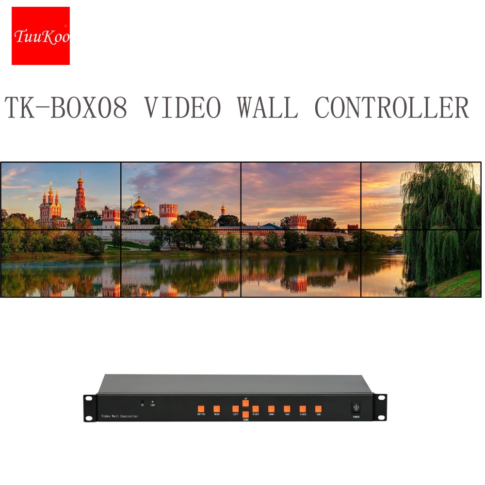 2x4 التلفزيون وحدة تحكم الفيديو الجدارية ، معالج فيديو ليد ل 8 وحدات