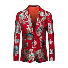 Red Christmas 3D Blazers Jacket Men Floral Print Painting 2019 New Men's Fashion Suit Party Coat Cas