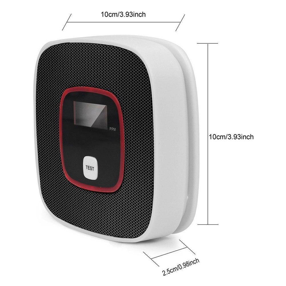Lcd co sensor de alarme gás monóxido carbono envenenamento detector fumaça tester monitor ferramenta as99